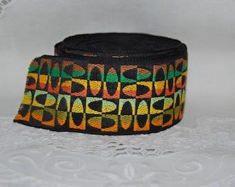 MOD geometric WOVEN embroidered jacquard cotton trim