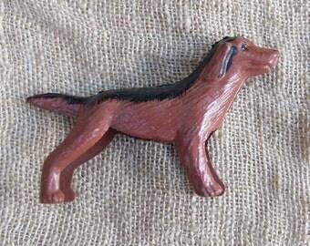 Vintage Spaniel Dog Lead Animal Figurine Japan