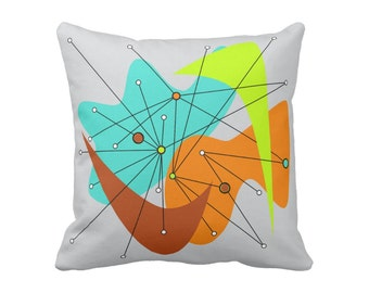 "Amoeba Throw Pillow 16""x16"" or 20""x20"" Square Polyester or Cotton Your Choice with Free Shipping"