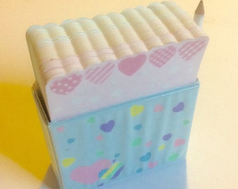 Vintage Sanrio 1984 Rainbow Heart Paper Note Pad