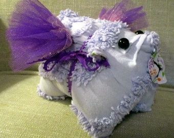 Pigs can fly!!! Piglet made from vintage Chenille bedspread