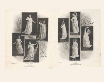 Victorian Actress Prints- Statue Poses from Soper's Select Speaker 1902 - 2- 8 x 10 Digital Download JPEG