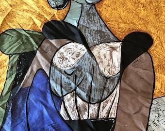 Picaso silk scarf