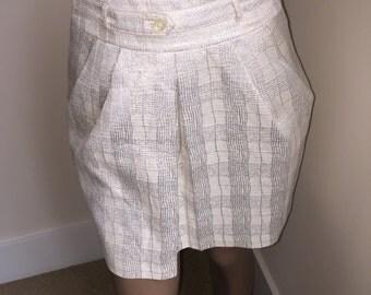 Vintage Club Monaco Lady's Metallic Skirt