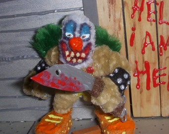Evil Clown Chenille Stem Miniature