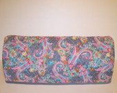 Cricut Dust Cover / Scan-n-Cut Cover / Cricut Machine Cutter Protector / Pink / Blue / Yellow Flower Paisley On Gray