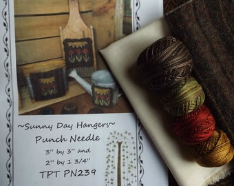 Valdani Thread Wool Weavers Cloth Kit for Sunny Day Punch Needle Pattern