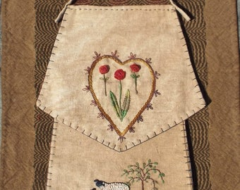 Mailed Paper Pattern Seed Bag Hand Embroidery