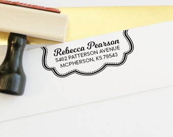 Address Stamp - Self Inking Return Address Stamp - rubber stamp - Custom and Personalized Stamp, Graduation Gift