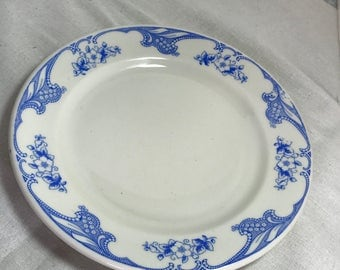 Shenango Blue Rose Point Restaurant China Dinner Plate