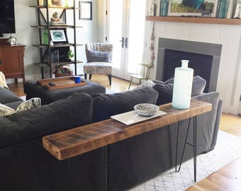 Custom Console Table - Reclaimed Wood Floorboards
