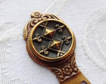 Bookmark- Antique Button- Fleur-de-lis