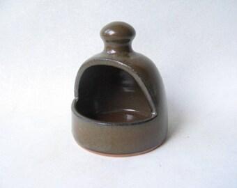 Pottery Salt Pig, Ceramic Salt Pig, Salt Keeper