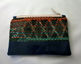 Cosmetic Zipper Pouch // Woven Fabric Pouch