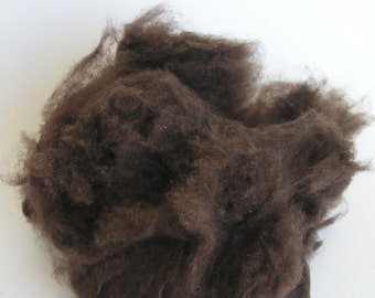 YAK DOWN FIBER Dark Brown Cloud Natural colored percent Spin Felt Blend Craft 2 ounce Soft luxury amazing