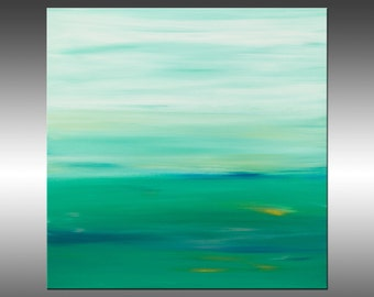 Sunset 56 - Abstract Landscape Painting, Original Modern Art Painting, Abstract Canvas Wall Art, Sunrise Sunset