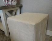 Ottoman Slipcovers, Linen Slipcover, Ottoman Slip Cover, Custom, Cube, Bench, Ottoman Slipcover Square, Harmony