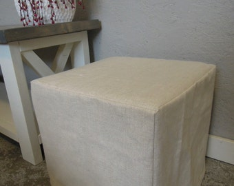 Ottoman Slipcovers, No Piping, Custom, Cube, Bench, Ottoman Slipcover, Harmony Fabric Line