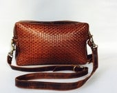 AW13 Leather bag in braided Italian cow hide