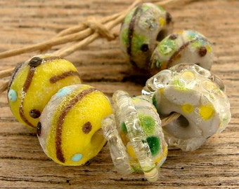 CENTRAL PARK - Handmade Lampwork Beads - Earring Pairs - 6 Beads