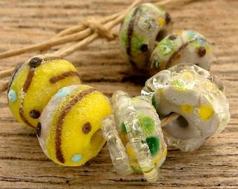 CENTRAL PARK - Handmade Lampwork Beads - Earring Pairs - 6 Beads