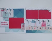 Endless Summer Premade or DIY Kit,12x12 Scrapbook Layout, Scrapbook Page Kit, Project Life, Filofax