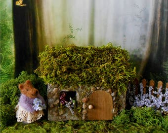 Fairy House,Fairy Garden,FREE SHIPPING,Outdoor Fairy House, Miniature Garden,Stone Cottage,Garden Cottage,Garden Decor, Irish Cottage,