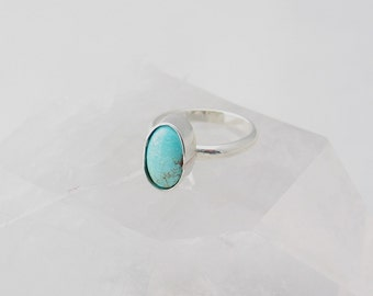 Royston Turquoise Ring, Turquoise Jewelry, Boho Ring, Sterling Silver Ring, Custom Jewelry, Made to Order, Choose Your Size