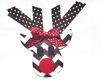 Christmas//Reindeer & Antlers//Fabric Iron On Applique(s)