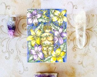 Goddess Art Fertility Goddess Prayer Card Pagan Art Mythology Art Sacred Feminine Earth Goddess Divine Feminine Spiritual Art Altar Art