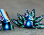 SMALL Polymer Clay Peacock Cane Kit-'Midnight in Paradise' (8aa)
