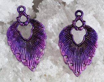 Hand stained feather pair by joycelo