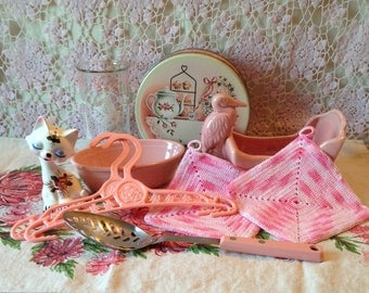 Kitchen Lot, Vintage,Pink