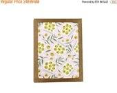 SALE Set of 10 Olive Print Notecard illustration floral foodie pattern