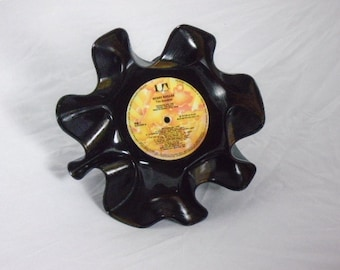 """Kenny Rogers """"The Gambler"""" Recycled Record Bowl"""