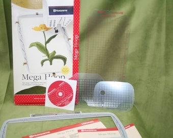 Husqvarna Viking Mega Hoop, Embroidery Hoop, Husqvarna Designer Machine, Sewing Embroidery Machine,Embroidery Tool,Designers 1 & 2,SEWBUSY12