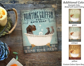 Wirehaired Pointing Griffon dog bath soap Company artwork on gallery wrapped canvas by Stephen Fowler