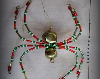Jingle Bell Christmas Spider  Ornament Sun catcher