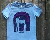 Rainbow Unicorn Short Sleeve Child Tee