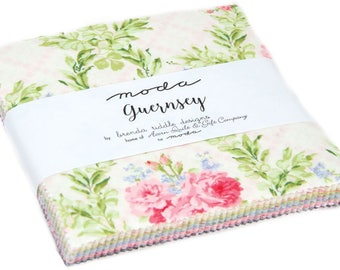 """Guernsey Moda Charm Pack 42 - 5"""" precut fabric quilt squares by Brenda Riddle Designs"""
