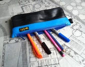 Pencil case made from bike inner tube and reclaimed materials