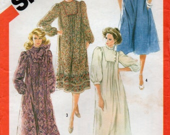 1982 Loose Fitting Asymmetrical  Dress size 14 Sewing Pattern Simplicity 5552