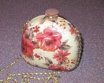 Vintage FAB 60s  Lucite Red Mauve Rose Evening Handbag Purse Clutch