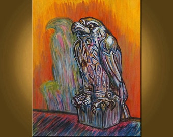 The Maltese Falcon -- 22 x 28 inch Original Oil Painting by Elizabeth Graf on Etsy -- Art Painting, Art & Collectibles