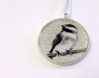 SALE - Ornament - Fauna Collection - Chickadee  (Packaged) - Original artwork