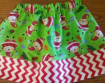 CHRISTMAS SANTA SKIRT size 3/4 ready to ship need another size...just ask