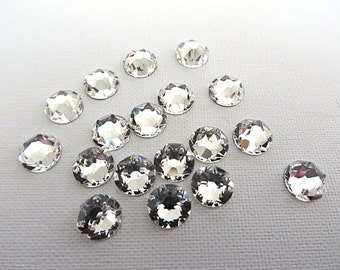 72 Clear Crystal Swarovski Flatback Rhinestones 2088 30ss 6.4mm