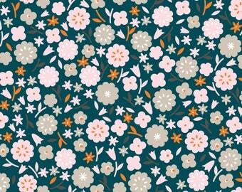 Cloud9 Stay Gold Primrose Spruce Organic Cotton Fabric