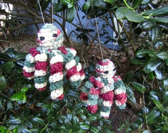 Christmas Decor Holly & Ivy Christmas Octopus. Christmas Tree Ornaments. Octopus Stocking Stuffers. Plush Toy Octopus Pair. Ready-to-Ship