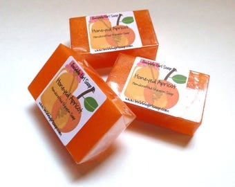 Honeyed Apricot MINI GUEST Size Vegan Glycerin Soap Bar